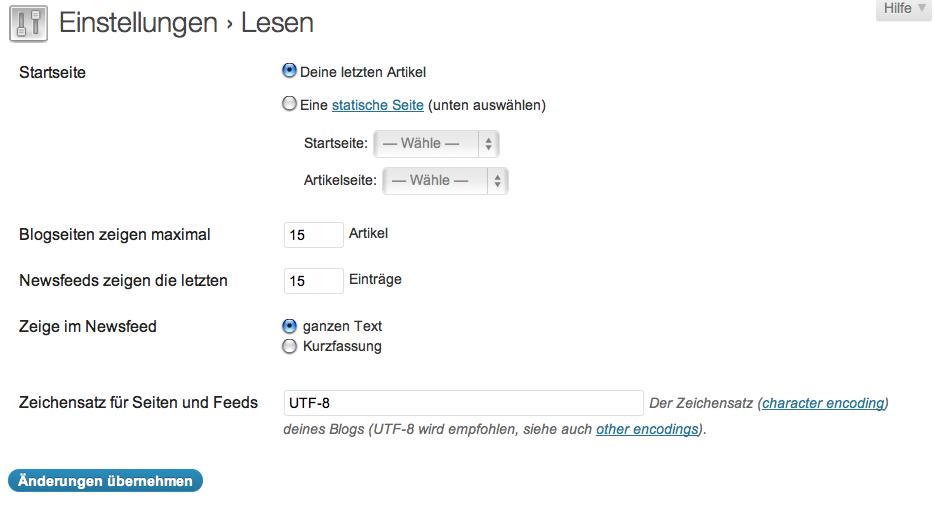 Abbildung 26: Homepage personalisieren