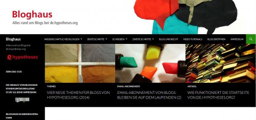 Bloghaus - Menü - obe