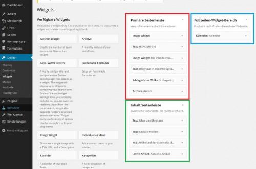 Bloghaus - Widgets - allgemein
