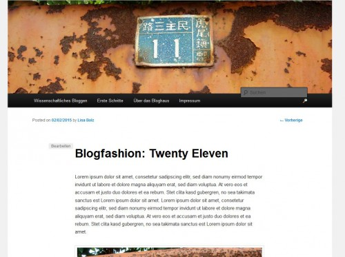 Bloghaus 2011 - Artikel-Header
