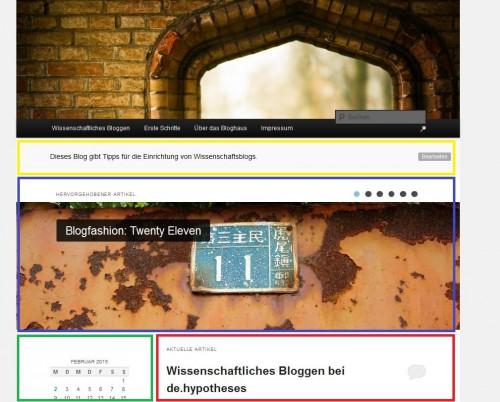 Bloghaus 2011 - Showcase Übersicht - mit Markierungen